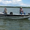DARREL DEGELAU  AND TOM OTTER ON LEECH LAKE, MN