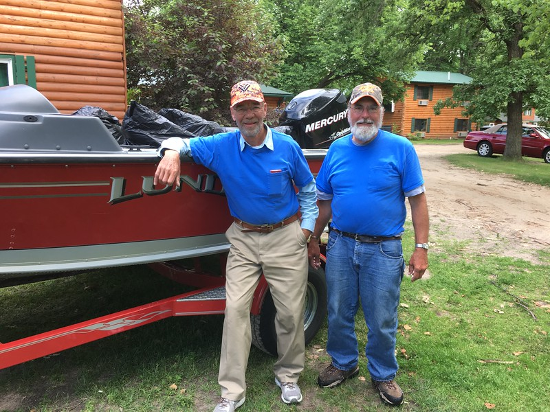 DOUG AND DENNIS BREUCKMAN ABOUT TO LEAVE FOR HOME