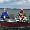 DENNIS BREUCKMAN AND DOUG CATCHING PERCH ON LEECH LAKE, MN