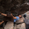 Todd gets off the ground on the start moves of this V10 problem.