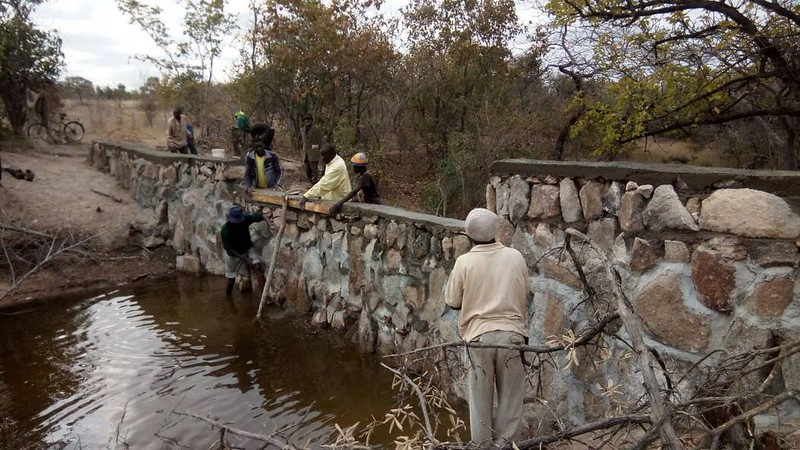 Sealing the gaps and making the spillway