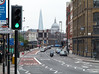 View of St. Paul's and The Shard, from near Farringdon Station
