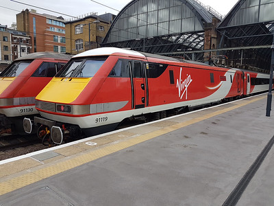 Recently named 91119 'Bounds Green Depot' at Kings Cross.