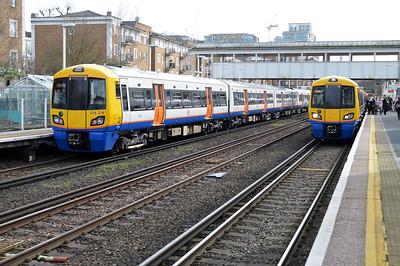 LOROL units 378218 & 378211 at Kensington Olympia.