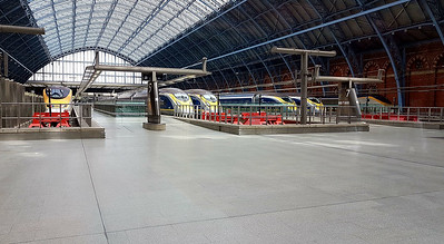 St.Pancras International with old and new Eurostars at the ready.