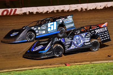 Scott Bloomquist (0) and Joey Moriarty (51)
