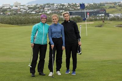 Tinna Kristín SnælandGR, Andrea Nordquist Ragnarsdóttir og Ruth Einarsdóttir.