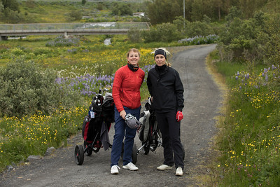 Kristín Elfa Ingólfsdóttir og Andrea Olsen.