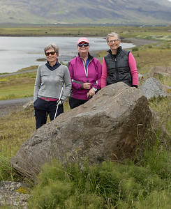 Hólmfríður M. Bragadóttir, Helga Óskarsdóttir og Guðrún Þórarinsdóttir.