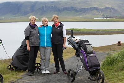 Margrét Karlsdóttir, Jónína Rútsdóttir og Bjarndís Jónsdóttir.