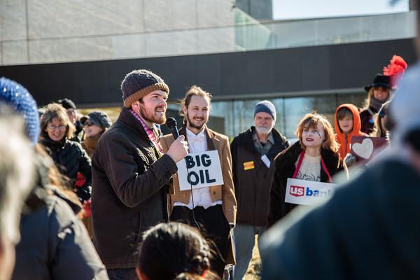 MN350 Stop Dakota Access Pipeline, Romeo & Juliet, Minneapolis, February 12 2017