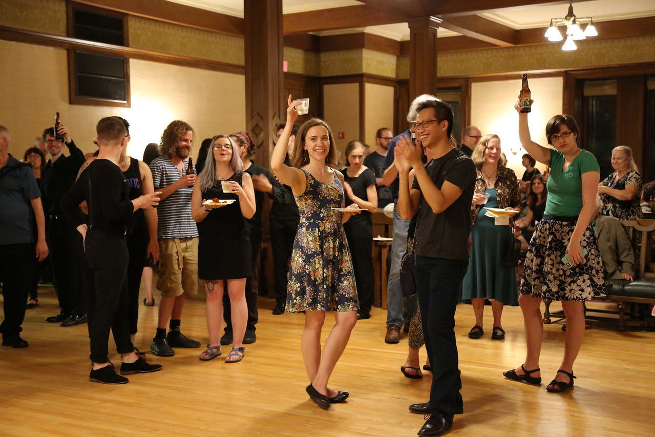 2017 Madison Early Music Festival, Closing Night Party July 15th, post All-Festival Concert party in the Harrison Parlor in Lathrop Hall.