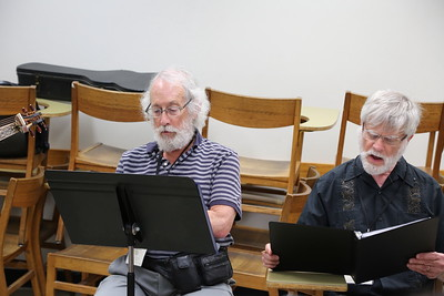 "Participants in the ""Making of Zarzuela"" class taught by Brandi Berry and Paul Rowe at the 2017 Madison Early Music Festival in the Humanities Building at the University of Wisconsin-Madison Mead Witter School of Music."