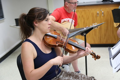 "The ""Making of Zarzuela"" class taught by Brandi Berry (pictured) and Paul Rowe  at the 2017 Madison Early Music Festival in the Humanities Building at the University of Wisconsin-Madison Mead Witter School of Music."