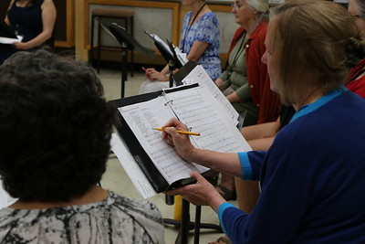 "Participants in the ""Survey of Spanish Song"" class taught by Grant Herreid and Nell Snaidas at the 2017 Madison Early Music Festival in the Humanities Building at the University of Wisconsin-Madison Mead Witter School of Music."