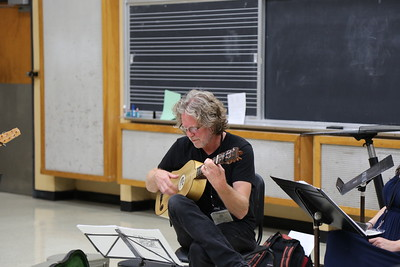 """Survey of Spanish Song"" class taught by Grant Herreid (pictured) and Nell Snaidas at the 2017 Madison Early Music Festival in the Humanities Building at the University of Wisconsin-Madison Mead Witter School of Music."