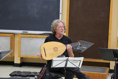 "Grant Herreid,  in the ""Survey of Spanish Song"" class taught by Grant Herreid and Nell Snaidas at the 2017 Madison Early Music Festival in the Humanities Building at the University of Wisconsin-Madison Mead Witter School of Music."