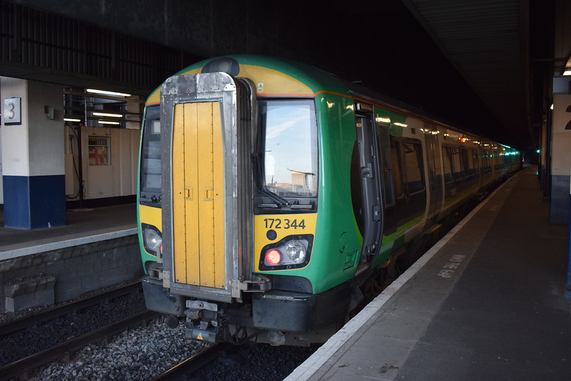 London Midland Class 172 Turbostar no. 172344 at Birmingham Snow Hill.