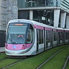 "Midland Metro CAF Urbos 3 tram no. 29 at the Birmingham Snow Hill ""St. Chads"" stop on a Grand Central service."