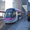 "Midland Metro CAF Urbos 3 tram no. 31 at the Birmingham Snow Hill ""St. Chads"" stop on a Wolverhampton service."