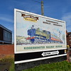 A billboard advertising the Severn Valley Railway at Kidderminster station.