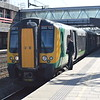 London Midland Class 350 Desiro no. 350122 at Stafford on a Crewe service.