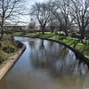 The River Sow passing through Victoria Park, Stafford.