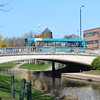 An Arriva Dennis Dart passes over the River Sow on Victoria Road, Stafford.