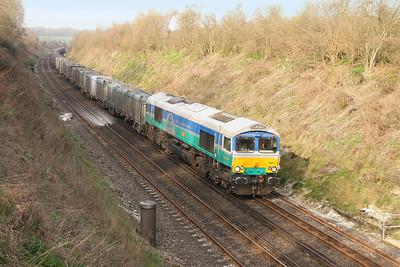 66711 Popham 24/03/17 4Y19 Tonbridge to Southampton Western Docks