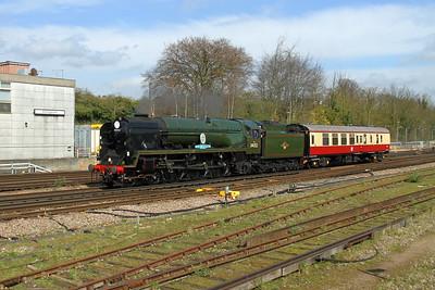 34052 Basingstoke 28/03/17 5Z43 Southall to Swanage