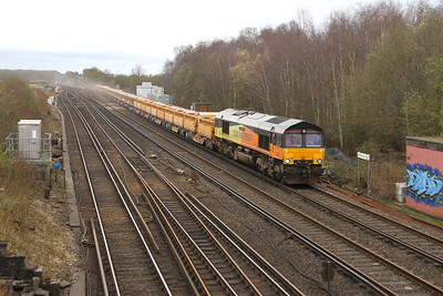 66850 Worting Junction 18/03/17 6C02 Eastleigh to Latchmere Junction