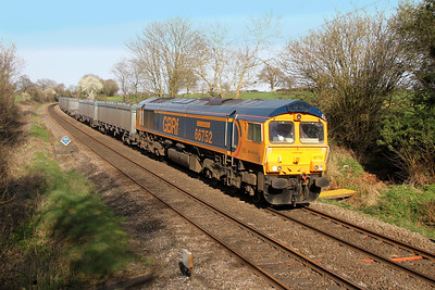 66752 Mortimer 26/03/17 4Y19 Mountfield to Southampton Western Docks diverted via the GWML