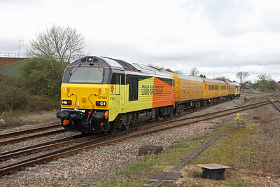67023 Padworth Crossing 22/03/17 1Z78 Tyseley to Bristol High Level Sidings