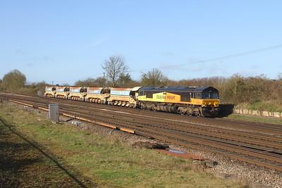 66849 Worting Junction 21/03/17 6Y48 Eastleigh to Hoo Junction