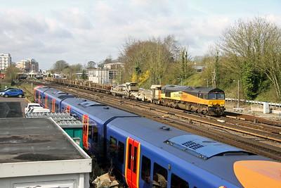 66850 Basingstoke 17/03/17 6Y48 Eastleigh to Hoo Junction
