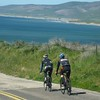 Peter Reid and Mike Pierson approaching Jalama Beach