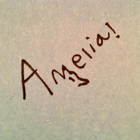 Amelia's new wolfy signature