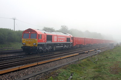 66136 Worting Junction 24/05/17 6O11 Dowlow to Southampton Up Goods Yard