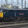 """Caledonian Sleeper class 86 no. 86101 """"Sir William A Stanier FRS"""" at Willesden Depot."""