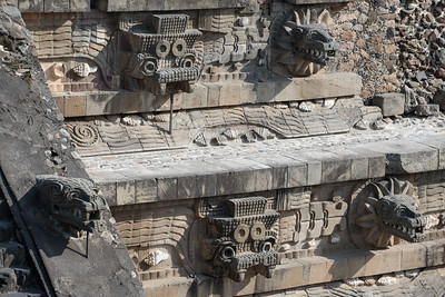 Details on the Pyramid of Quetzalcoatl.