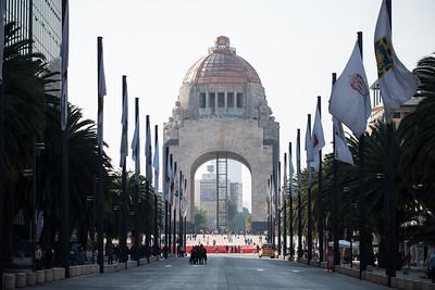Selfie takers and the Monumento a la Revolucion