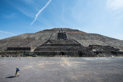 The Pyramid of the Sun.  The base is similar in size to the Great Pyramid of Giza, but it is half as tall.