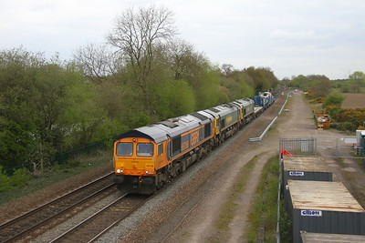 66766 Stenson Junction 13/04/17 6K50 Toton to Crewe Basford Hall with 66507 and 66509