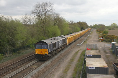 66302 Stenson Junction 13/04/17 6U77 Mountsorrel to Crewe Basford Hall
