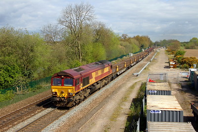 66161 Stenson Junction 13/04/17 6X01 Scunthorpe to Eastleigh