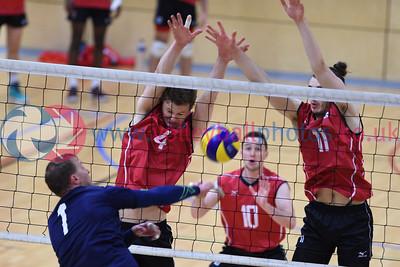 International Volleyball England 3 v 1 Scotland (25-18,21-25, 25-12, 25-21), Sport Central, Northumbria University, 28 May 2017.   © Lynne Marshall   http://www.volleyballphotos.co.uk/2017/Misc/20170528-England-v-Scotland-Men/