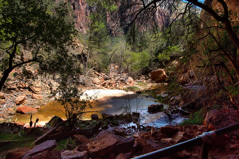 Lower Emerald Pool, Emerald Pools Trail, Zion National Park, Utah