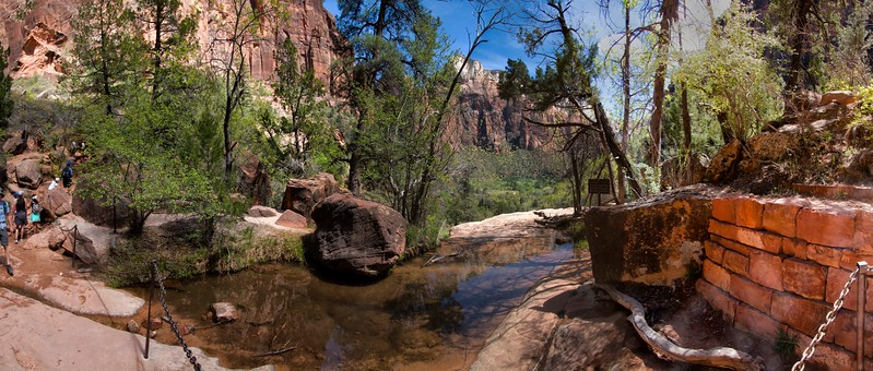 Middle Emerald Pool, Emerald Pools Trail, Zion National Park, Utah