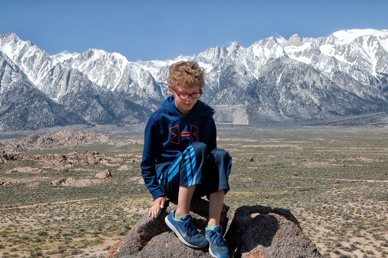 Sierra Nevada Mountains, Movie Flats Road, Lone Pine, California