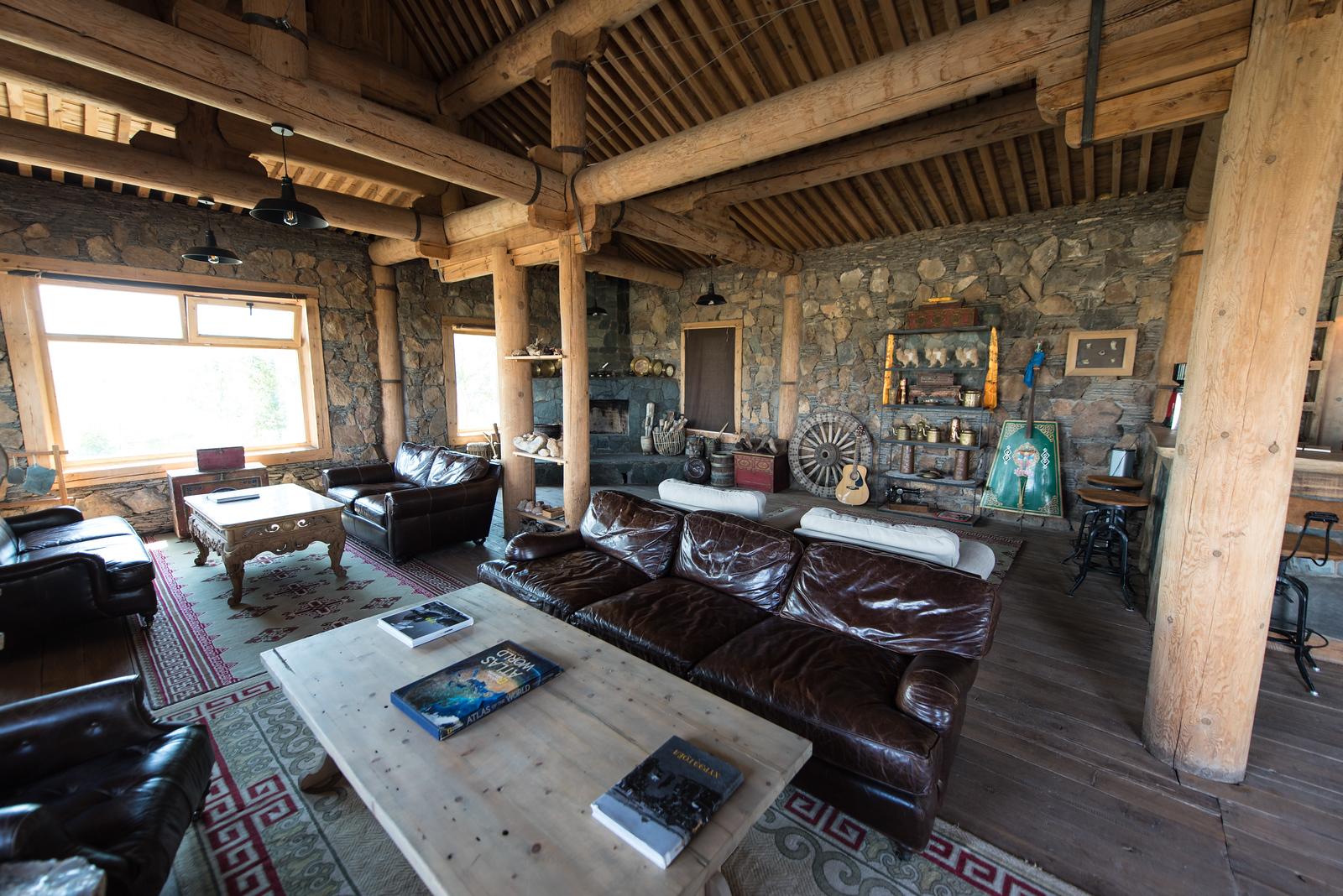 Bar area at the Three Camels Lodge.